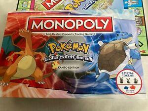 Pokémon Monopoly Collectors Edition Kanto Rare Board Game Complete