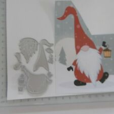 CHRISTMAS NEW*Cutting Dies*GNOME*Christmas*Birthday*Cards*Topper