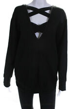 The North Face Womens Long Sleeve Cut Out Pullover Sweatshirt Black Size Medium