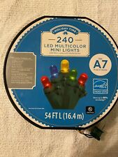 Holiday Time Indoor & Outdoor LED Multicolor Mini Lights, 54 Ft 240 Count