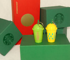 STARBUCKS - 2016 Summer - Frappuccino Colorful KEYCHAINS - *SET of 2 *NEW!