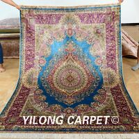 Yilong 5'x7.5' Classic Silk Rugs Hand Knotted Oriental Home Carpet Handmade 0184