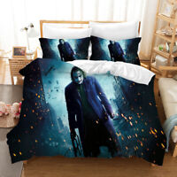 3PCS Joker Printed Bedding Set Quilt Duvet Cover Pillowcases Comforter Cover Set