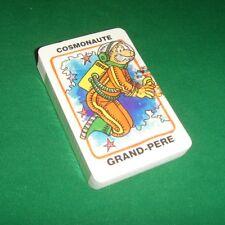 Ancien jeu de cartes 7 familles sept espace cosmos humour cosmonaute astronaute