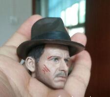 1/6 Solider Dr. Henry Indiana Jones Head Carving Sculpt Model Toys Damage Versi