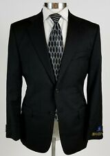 Joseph Abboud Loro Piana Wool Blazer Suit Jacket Black 2 Button 40s Short