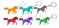 Horse Keyring Equestrian Novelty Metal Colour Keychain