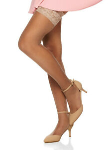 Berkshire Women's Shimmers Ultra Sheer Lace Top Thigh Highs - Sandalfoot 1340