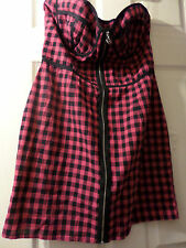 Cotton Check Mini Dresses Size Petite for Women