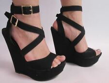 New Look Wedge Strappy, Ankle Straps Women's Shoes