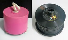 Disk Go Pink 45 RPM Vinyl Tote Case Holder Carry Case with 49 Vintage Records