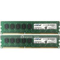 Crucial 16GB 2x8GB 2Rx8 PC3L-12800E DDR3 1600MHz ECC Unbuffered Server Memory