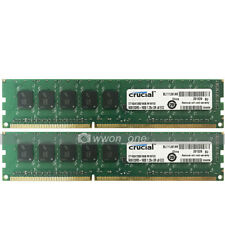 Crucial 16GB 2x8GB 2Rx8 PC3L-12800E DDR3 1600MHz ECC Unbuffered Server Memory