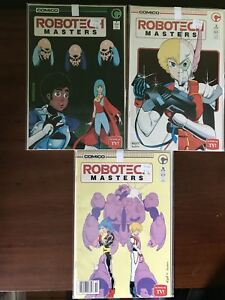 Lot of 3 Robotech Masters (1985) #7 9 10 VF Very Fine