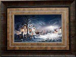 Terry Redlin Winter Wonderland Snowman Horse Children  Print-Framed