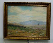 Estate Found Signed V. Scott Oil Painting On Canvas Panel Desert