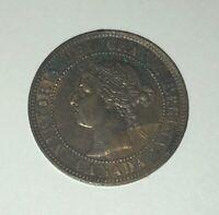 1899 1c Canada Queen Victoria Large Cent - XF