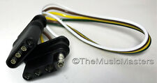 "4-Way Flat 12"" Trunk Trailer Light Wiring Harness Extension Plug Cord Wire End"