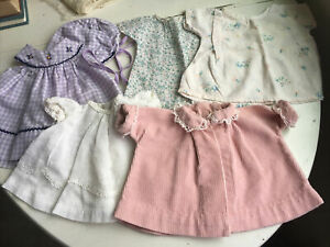 """Vintage Lot of Handmade Baby Doll Clothes 8-9"""" (?)"""