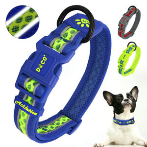 Durable Mesh Pet Collars Safety Reflective for Small Medium Large Dogs Labrador