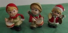 Vintage Homco/Home Interior 3 Christmas Porcelain Figurines Children Band #5106