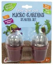 Grow Your Own Venus Fly Trap & Cactus Micro Gardens Childrens Carnivorous Plants