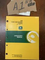 John Deere 430 Lawn & Garden Tractor Owner Operator Manual Guide OMM79600 NOS