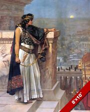 ZENOBIA QUEEN OF PALMYRA & ROMAN HOSTAGE IN EGYPT ART PAINTING REAL CANVAS PRINT