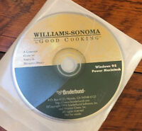 Vtg 1996 Williams-Sonoma Good Cooking Windows Power Mac Broderbund Software Disc