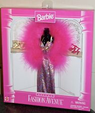1996 Barbie Fashion Avenue Deluxe Collection Faux Pink Feather Dress #14307