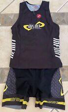 Womens Castelli triathlon 2-piece tri kit sz Large tank top shorts Team Infinit