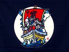 Japanese Treasure Boat of the Seven Gods of Fortune Wall Hanging Large Furoshiki