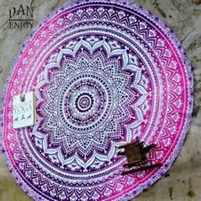 Round Indian Mandala Summer Beach Towel Tapestry Hippie Throw Yoga Mat Blankets