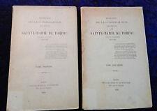 Histoire congrégation filles de Sainte Marie Torfou - diocèse Angers-2 vols rare