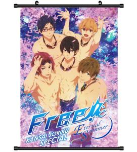 4106 Anime Free! Iwatobi Swim club wall Poster Scroll