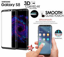 PELLICOLA IN VETRO CURVO 3D FULL SCREEN HD 9H NERA per SAMSUNG GALAXY S8 PLUS