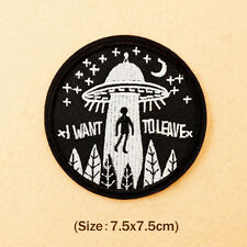 Clothing Patches UFO Sew Iron On Embroidery Applique Badge Bag Hat DIY Apparel