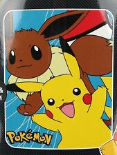 Pokemon Nintendo Pikachu & Eevee 40 x 50 Fleece Throw Blanket