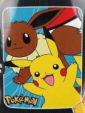 Pokemon Nintendo Pikachu & Eevee 40 x 50 Fleece Throw Blanket