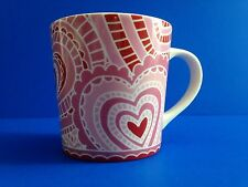 Starbucks 2005 Pink Ceramic Paper Heart Valentine Love Mug 16 oz.