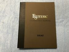 Teac P-2 D-2 Esoteric Instruction User Manual Guide, Vintage Original