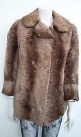 giacca cappotto donna pelliccia astrakan persiano veste fino alla taglia 44
