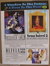 1994 Comic Images SELL SHEET FOLDER (no cards) Olivia, Rockwell, Marvel, etc.