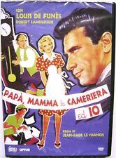 Dvd Papà, mamma la cameriera ed io con Louis De Funès 1954 Nuovo edit. raro