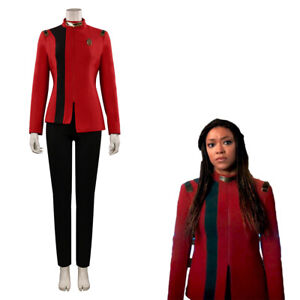 Star Trek: Discovery Season 4  Michael Burnham Cosplay Costume Red  Uniform