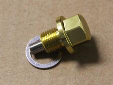 M20X1.5 GOLD ANODIZED MAGNETIC ENGINE OIL PAN DRAIN PLUG/BOLT w/ WASHER SABARU