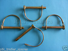 FREE P&P* 4 x 8mm Shaft Locking Retaining Pin - D Clip Lynch Linch for Trailers