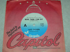 """LEO SAYER More Than I Can Say / Only Fooling 1980 AUS 7""""  NM"""