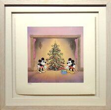S/O Mickey's Orphans Disney Serigraph Art Print Framed Mickey Mouse Christmas