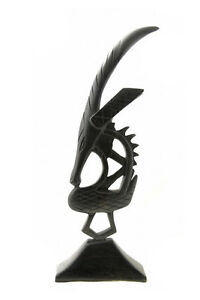 Statua Ciwara Tiwara Chiwara Ebano Mali Arte Tribale MS5